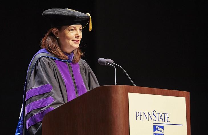 U.S. Senator Kelly Ayotte delivering the commencement address