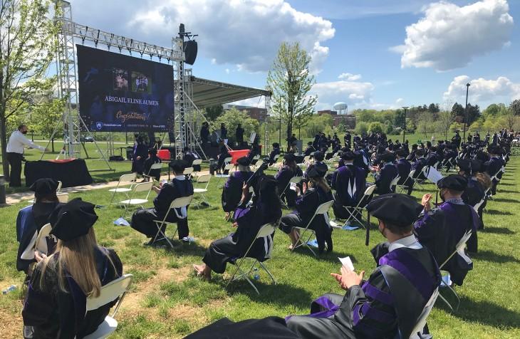 2021 Graduates as degrees are conferred