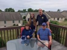 Michele Vollmer, Tiffany Kernen, Tom Applebach and Veteran Allen Blose