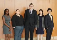 Civil Rights Clinic students Andy Low, Patrick Stickney, Rachel Naquin, Theresa Dorsainvil, and Misti Howey.