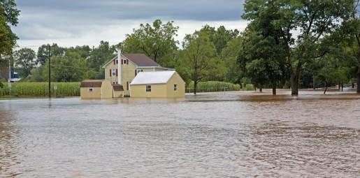 rural Pennsylvania home flooded