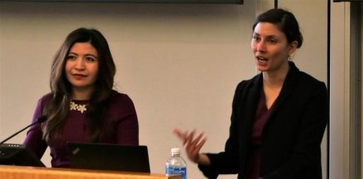 Rayhan Asat and Tamara Kralji at Penn State Law