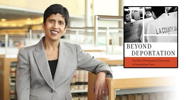 Professor Wadhia and book cover