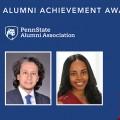 2019 Alumni Achievement Award winners Iyadh Abid and Teleicia Dambreville
