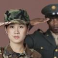 Two marines saluting