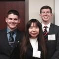 Penn State Law students Adam Martin, Cynthia Yan and Steven Ziegler